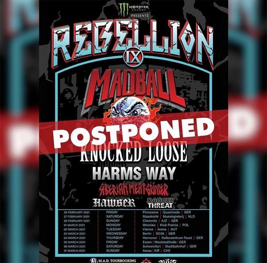 Madball Rebellion tour postponed