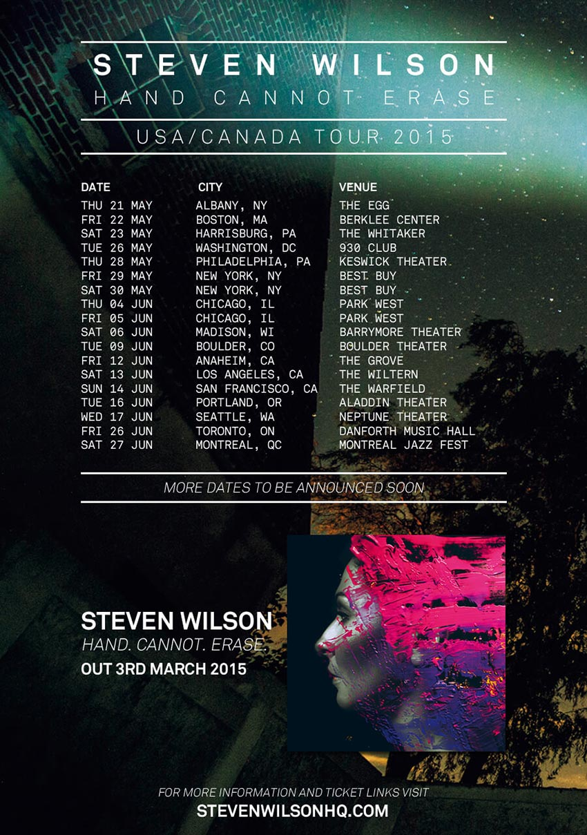 Steven Wilson tour flyer 2015
