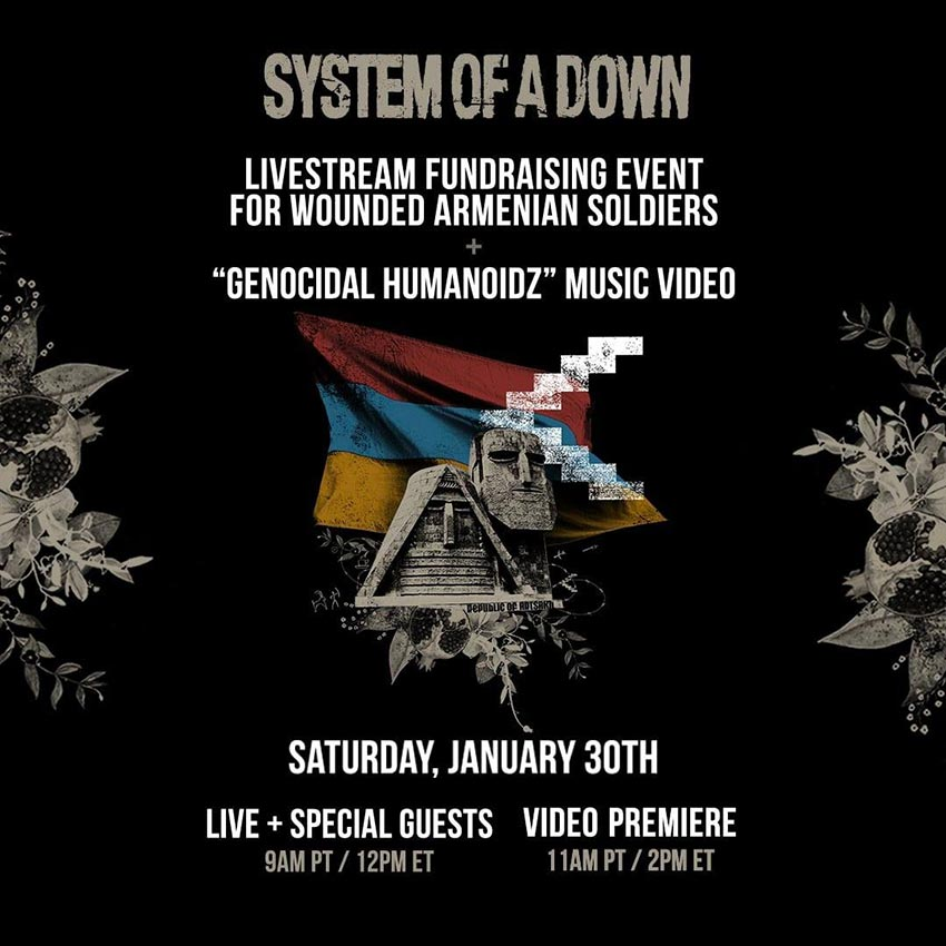 System of a Down stream